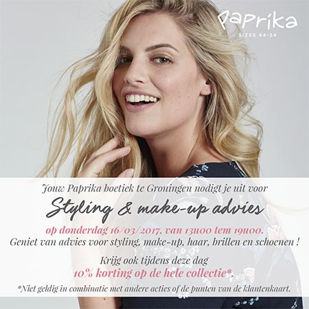 Paprika styling & make-up advies